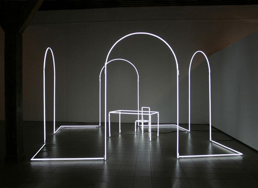 3D Neon art installation