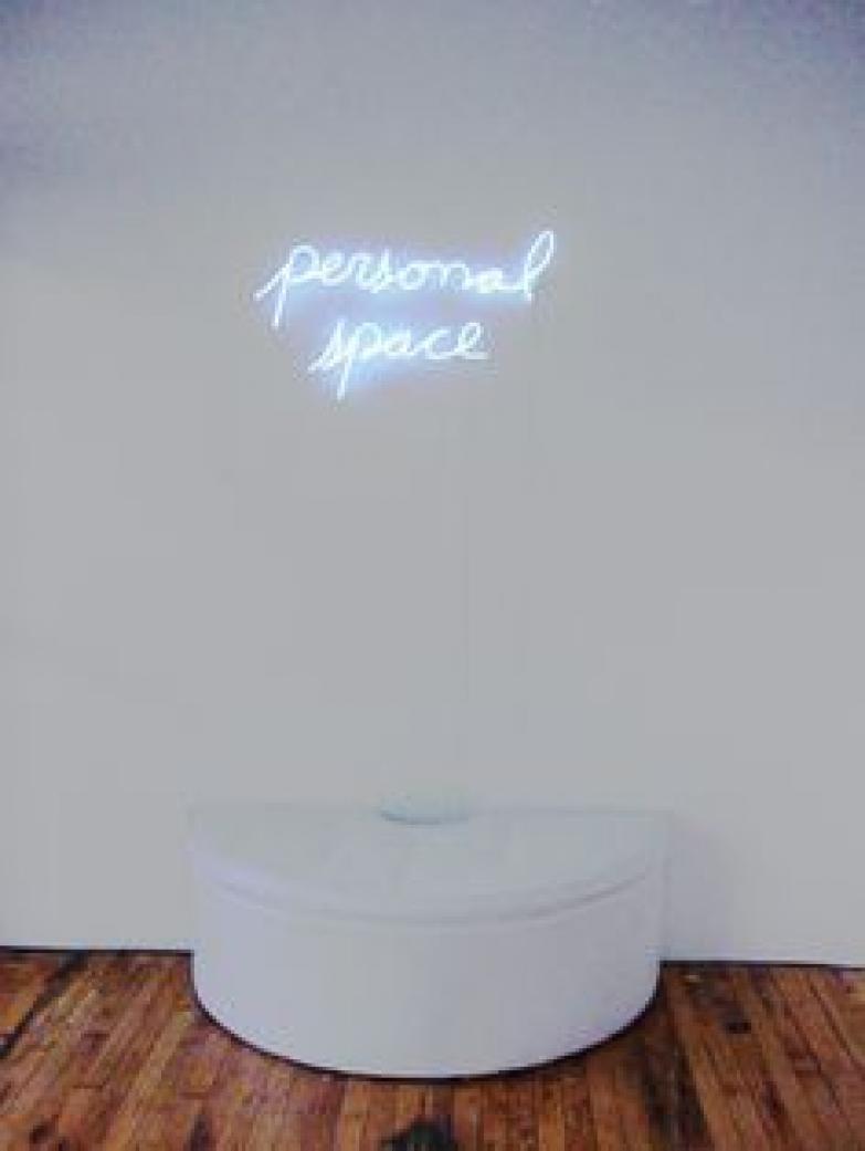 Jill Epstein's personal space neon