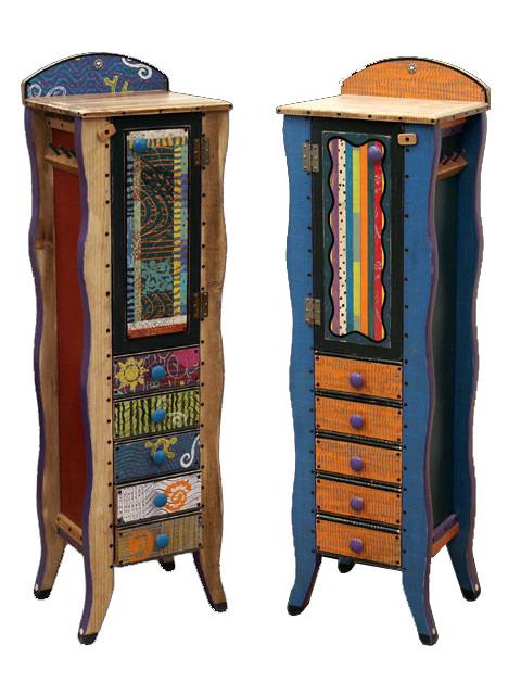 100 outstanding jewelry armoires zen merchandiser for Juno vintage modern jewelry armoire