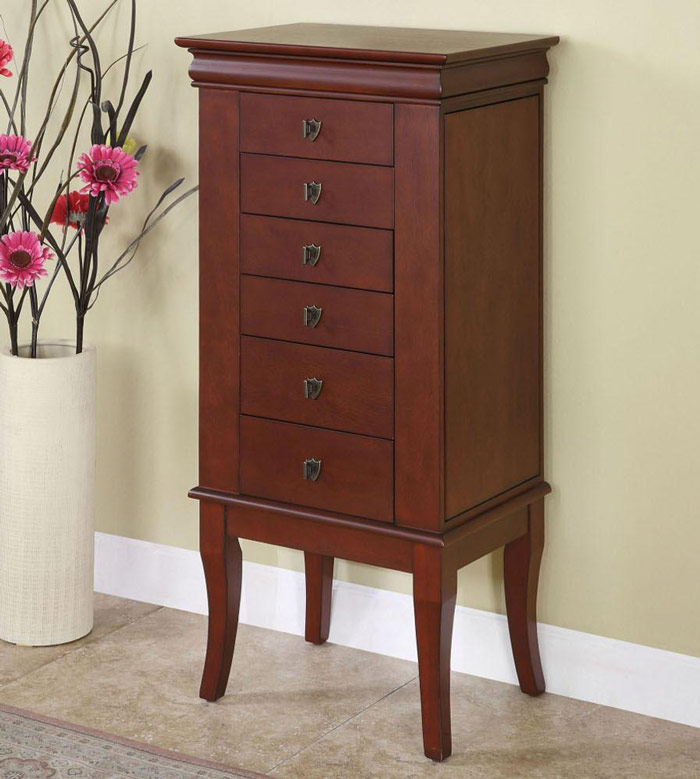 Cherry Color Jewelry Armoire
