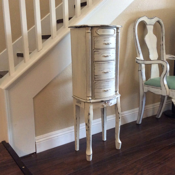 Distressed Finish Jewelry Armoire