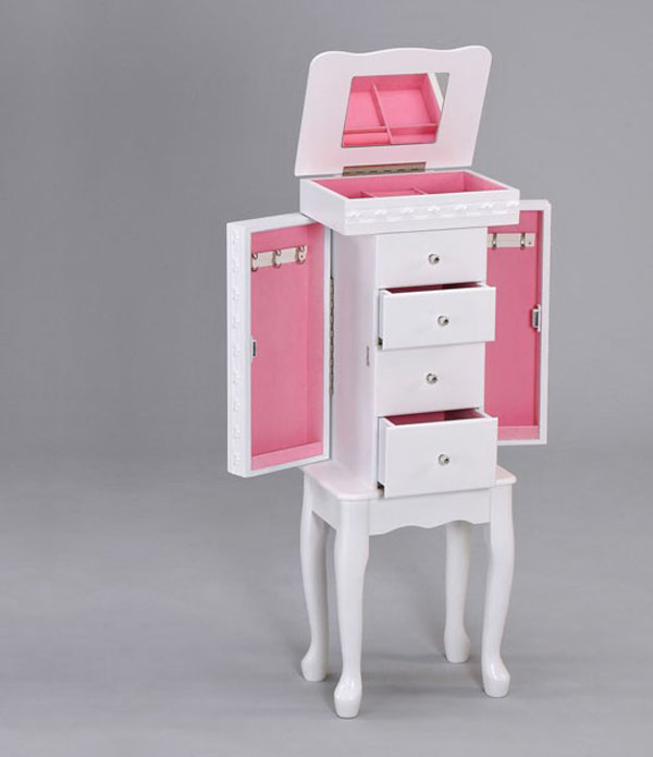 Jewelry Armoire Interior Lining Options