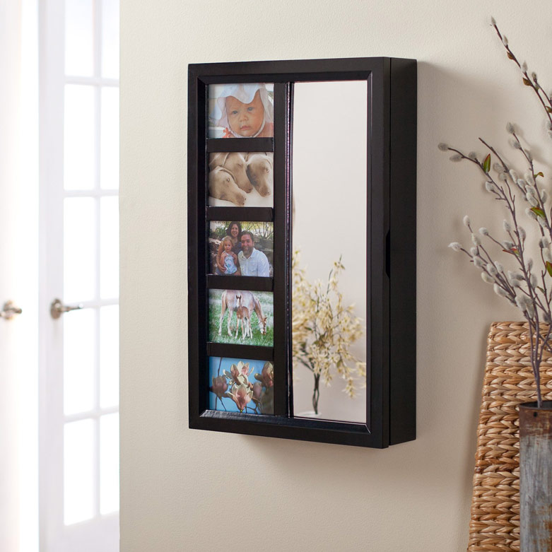Jewelry Armoire with Photo Frames