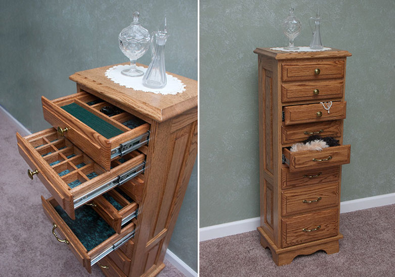 Jewelry Armoire with Multiple Compartments