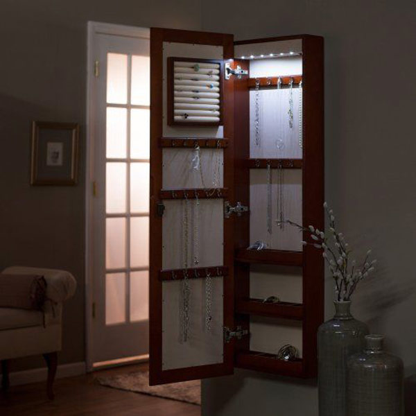 Lighted Jewelry Armoire