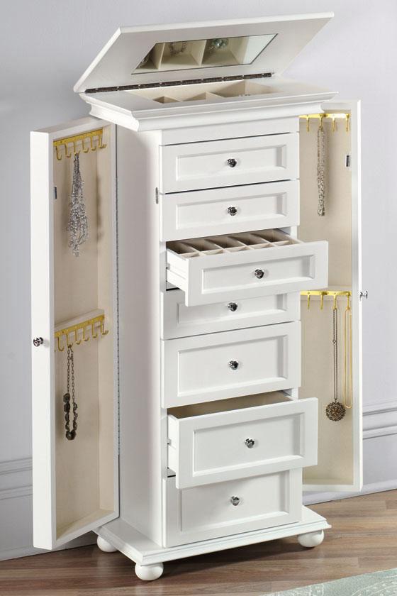 White Jewelry Armoire