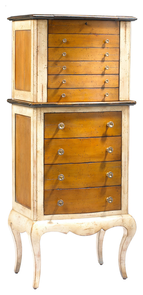 Traditional French Style Wood Jewelry Armoire