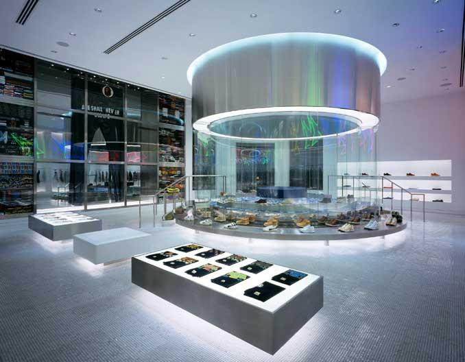 Bapela store LA lighting design