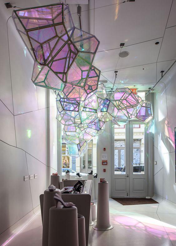 Decorative lighting layer
