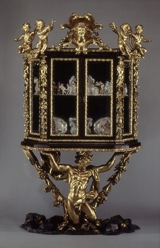 Baroque Style Jewelry Display Case / Cabinet