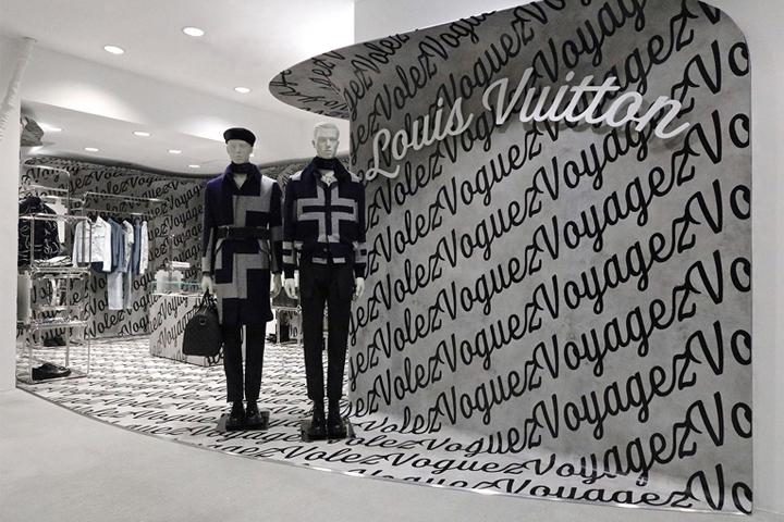 Louis Vuitton Minimal Black & White Window Display Visual Merchandising Installation