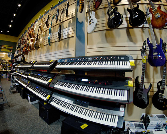 Piano In A Store