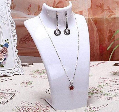 White Jewelry Mannequin Jewelry Necklace and Earring Display