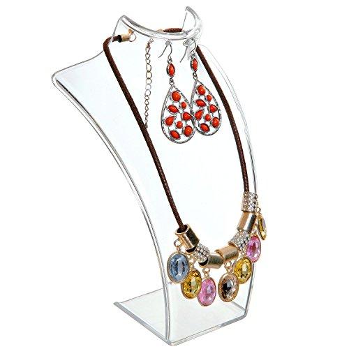 Textured Metal Necklace Display Bust