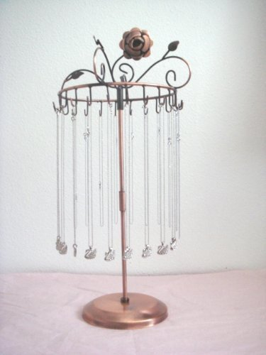 Rotating Jewelry Stand Display Organizer Necklace Earring Holders Show Rack