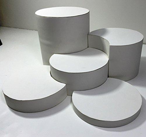 5 Piece White Round Jewelry Display