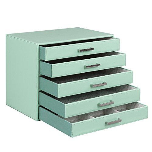 5 Drawer Jewelry Makeup Organizer Box