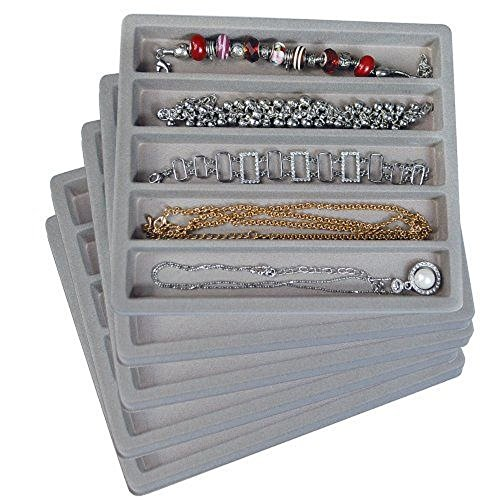 2 White Insert Tray Liners W// 32 Compartments Drawer Organizer Jewelry Displays