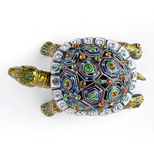 Apropos Hand Painted Giant Tortoise Trinket Box Rich Enamel And Sparkling Rhinestones Jewelry Trinket Box Free Priority Shipping Zen Merchandiser