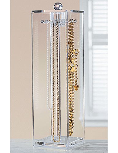 Huang Acrylic Jewelry Necklaces Stand Holder And Organizer For Long Necklaces Zen Merchandiser