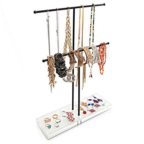 Metal Jewelry Storage Organizer Rack Necklace Bracelet Display