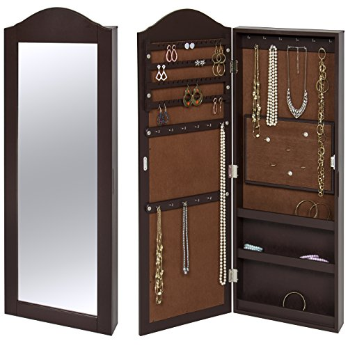 Best Choice Products Wall Mounted, Wall Hanging Mirror Jewelry Cabinet