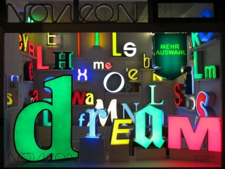 Another picture of the window display from a neon store.