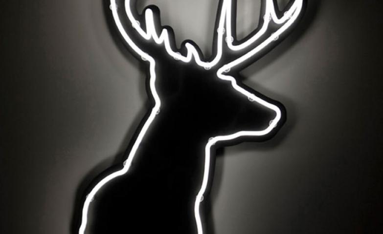 Deer head neon sign