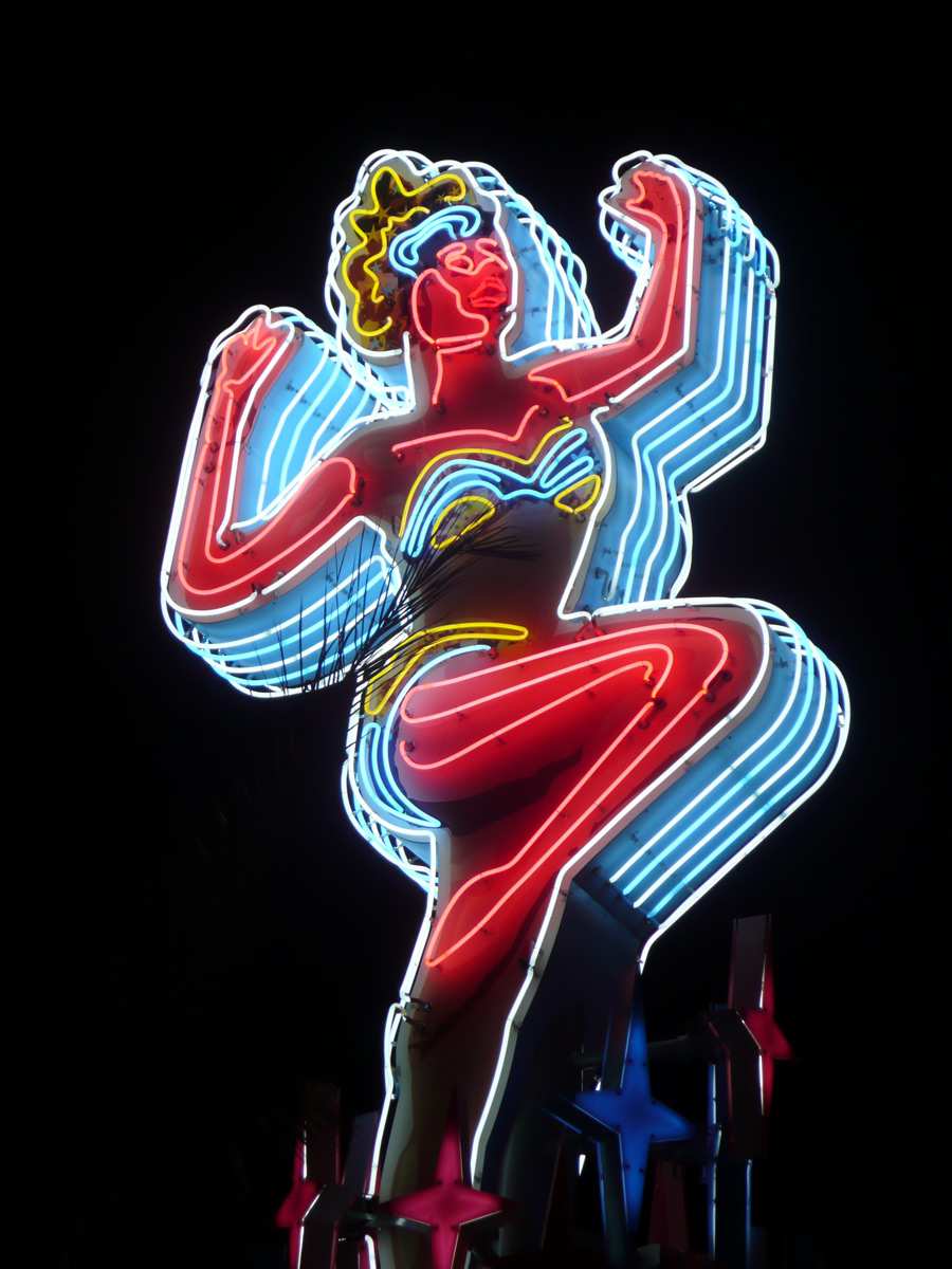 Fremont woman neon sign