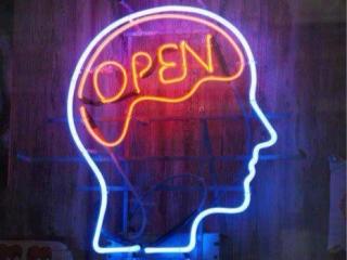 Creative open neon sign