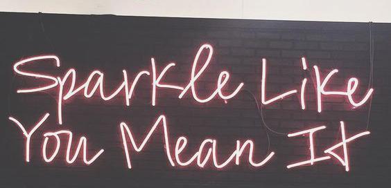 Sparkle neon typography