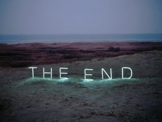 The end neon sign