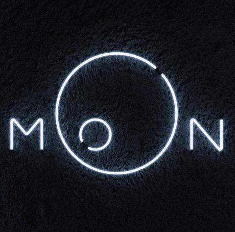 Neon moon logo design