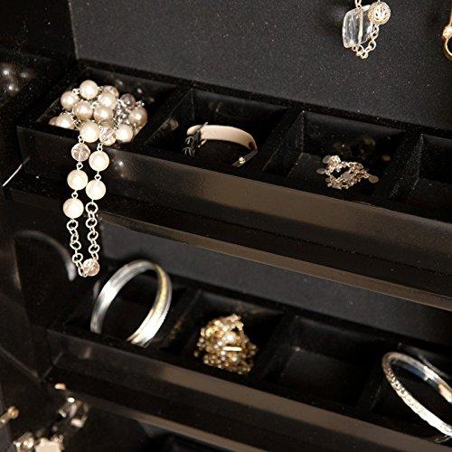 Belham Living Wall Scroll Locking Jewelry Armoire High Gloss
