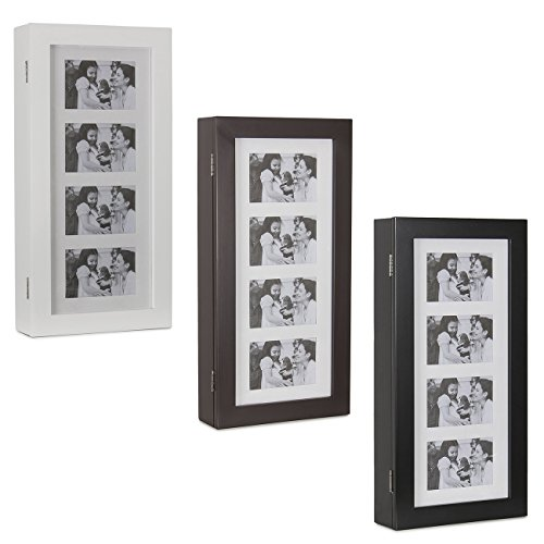 Belleze Photo Frames Jewelry Wall Mount Armoire Wood Cosmetic Storage  Pictures Cabinet Box