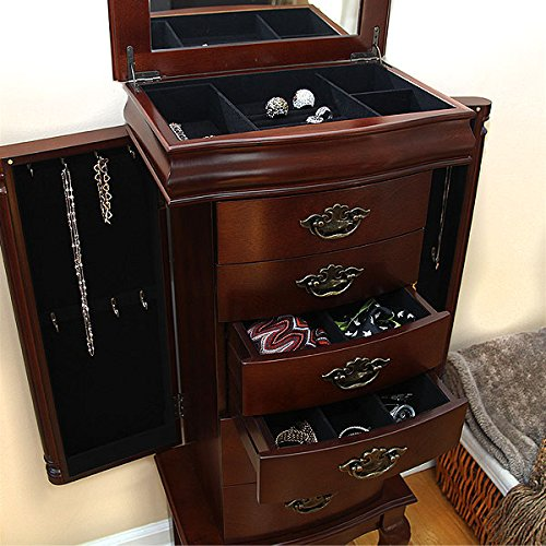 Petrus Provincial 6Drawer Jewelry Cabinet Armoire Mahogany MSRP