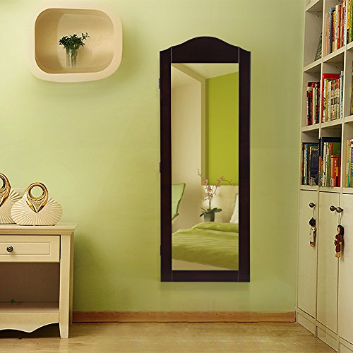Songmics Wall Mount Mirrored Jewelry Cabinet Makeup