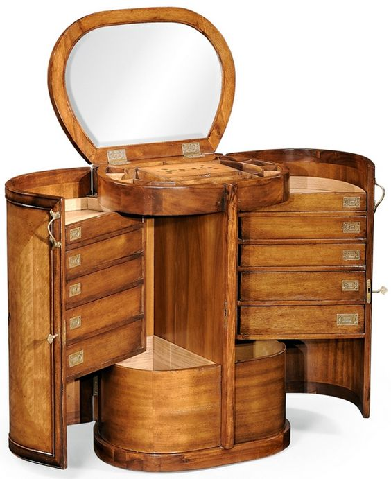 Natural round jewelry armoire