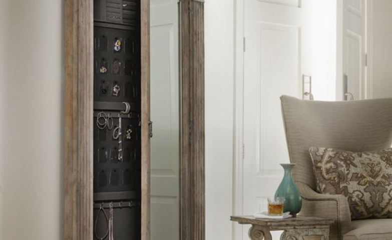 Floor standing sophisticated jewelry armoire