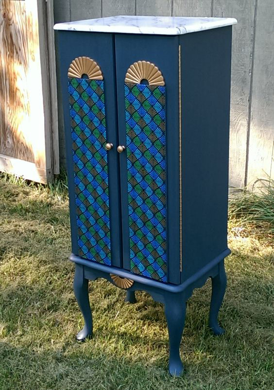Ethnic Moroccan jewelry armoire