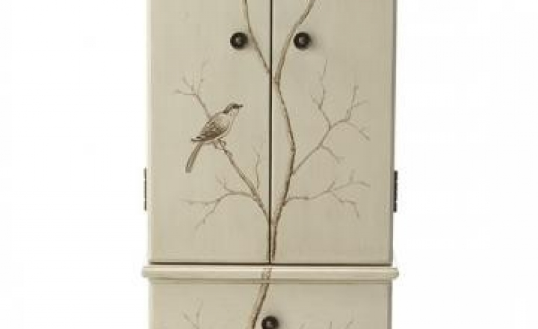 Hand painted tree jewelry armoire