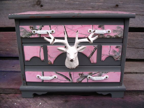 Antler jewelry armoire
