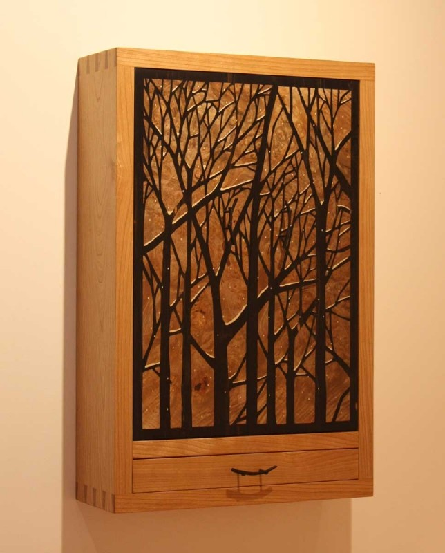 Natural forest jewelry armoire