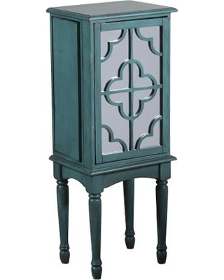 Dark teal jewelry armoire