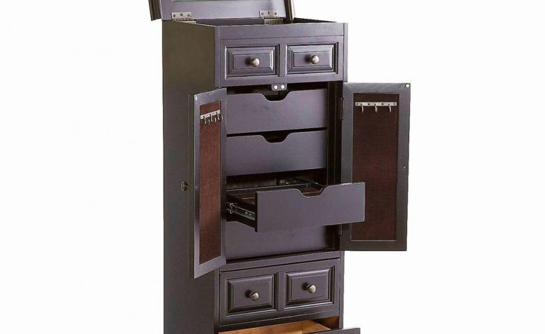 Luxurious dark jewelry armoire