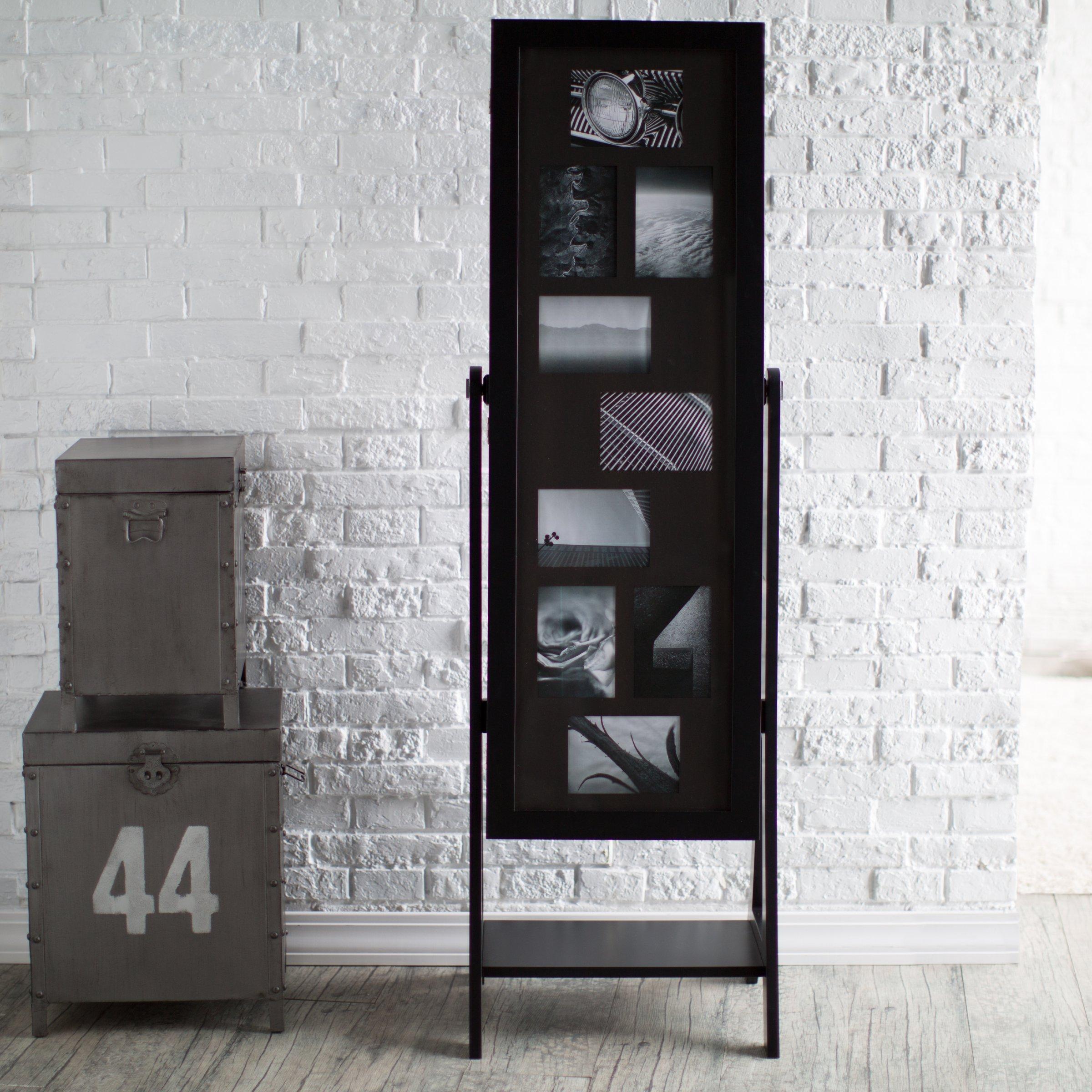 Dark espresso free standing jewelry armoire