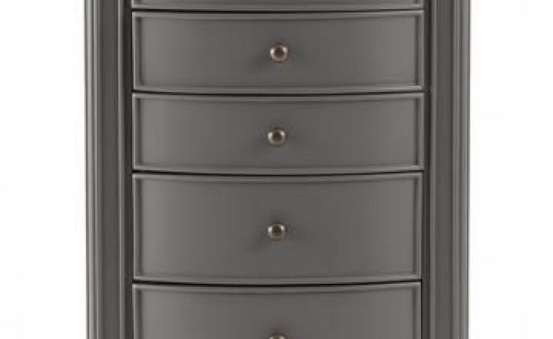 Free standing dark grey jewery armoire