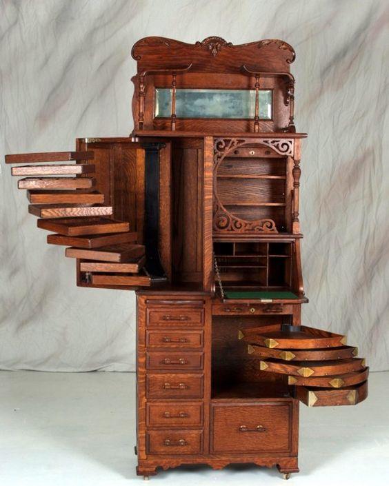 Antique jewelry armoire