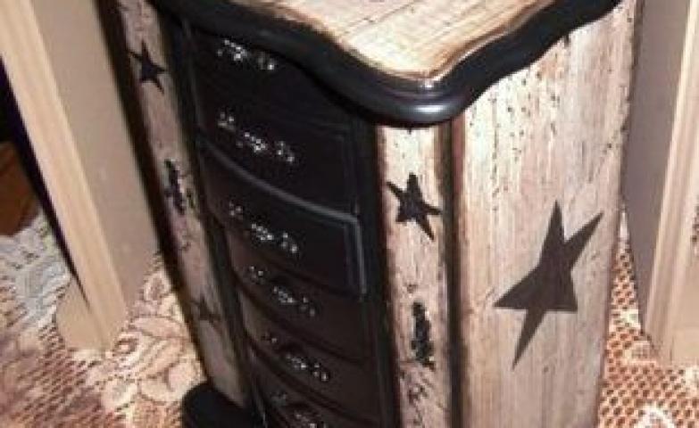 Black star jewelry armoire