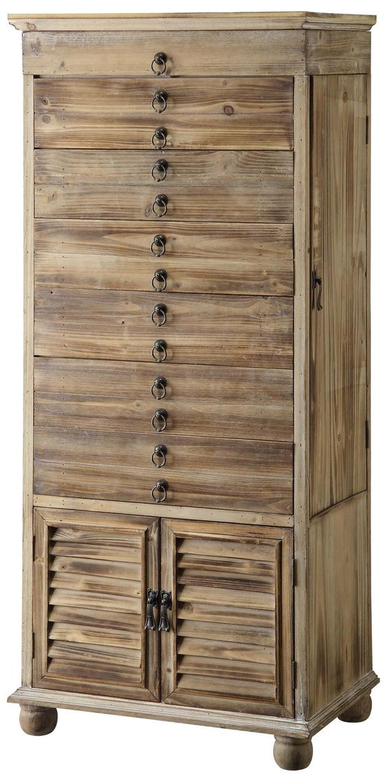 Driftwood large jewelry armoire